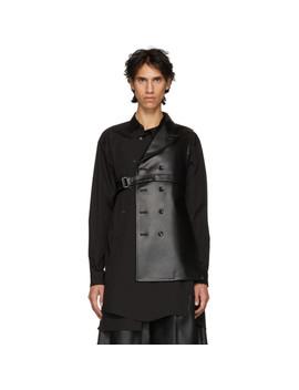 Black Asymmetric Blazer Vest by Comme Des GarÇons Homme Plus