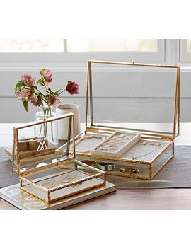 Antique Gold Jewelry Box, Small by Pottery Barn