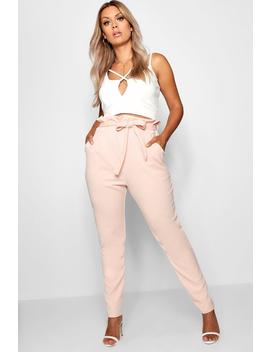 Plus Paperbag Tapered Trouser by Boohoo