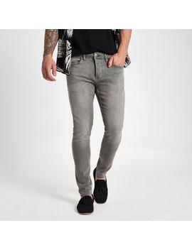 Grey Wash Sid Skinny Jeans by River Island