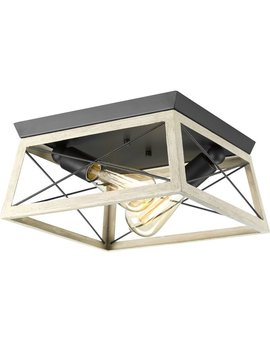 Laurel Foundry Modern Farmhouse Delon 2 Light Flush Mount & Reviews by Laurel Foundry Modern Farmhouse
