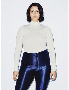 Mix Modal Long Sleeve Turtleneck by American Apparel