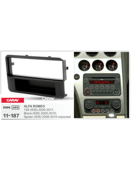 Carav 11 187 Car Radio Fascia Stereo Trim Dash Kit For Alfa Romeo 159 (939) by Carav