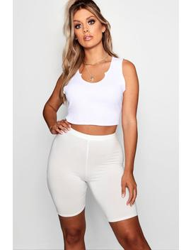 plus-jersey-basic-cycle-shorts by boohoo