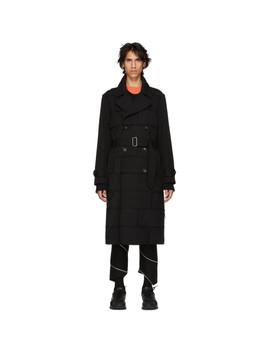 Black Thick Gabardine Coat by Comme Des GarÇons Homme Plus