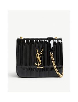 Vicky Large Patent Leather Shoulder Bag by Saint Laurent