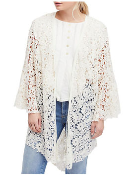 Move Over Lace Cotton Cardigan by Free People