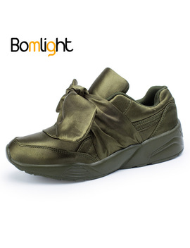 Bomlight Woman Casual Shoes Bow Tie Ladies Flats For Women Silk Moccasins Sneakers Female Round Toe Shoes Woman Dapato Feminino by Bomlight