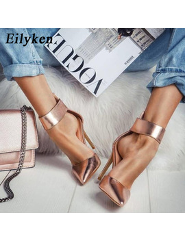 Eilyken Champagne Gladiator Women Pumps Zipper Pointed Toe High Heels Sexy Lady Shoes Thin Heels Chaussure Femme Autumn by Eilyken