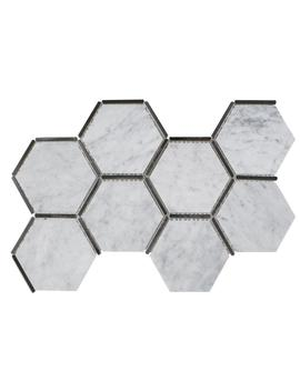 Laurel Nickel 8.625 In. X 15.125 In. X 9 Mm Stone And Metal Mosaic Tile by Jeff Lewis