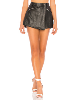 Angela Faux Leather Skort by By The Way.