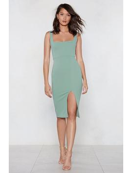 Squarin' To Go Midi Dress by Nasty Gal