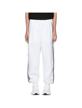 White Adidas Originals Edition Logo Lounge Pants by Gosha Rubchinskiy