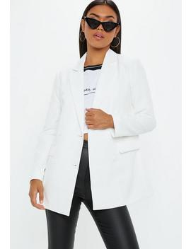 Blazer Blanc Croisé by Missguided