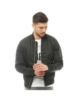 Jack And Jones Mens Charlie Bomber Black by Mand M Direct