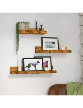 Loon Peak Atterberry Rustic Luxe 3 Piece Floating Shelf Set & Reviews by Loon Peak