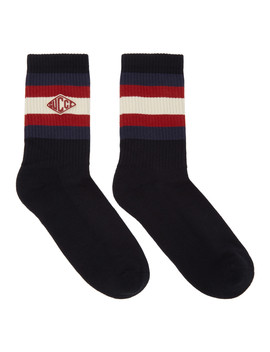 Chaussettes Bleues Small Logo by Gucci