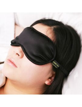 Jasmine Silk Pure Silk Filled Sleep Eye Mask Sleeping Blindfold Black by Ebay Seller