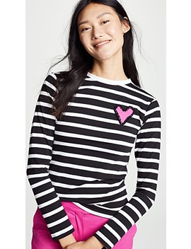 Striped Heart Tee by Michaela Buerger