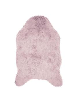 Faux Fur 3 Ft. X 2 Ft. Area Rug, Dusty Lilac by Jean Pierre