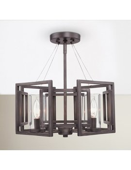 Brayden Studio Politte 4 Light Semi Flush Mount & Reviews by Brayden Studio