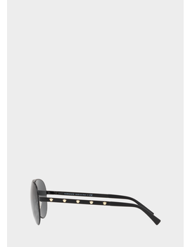 Graue Medusina Pilotensonnenbrille by Versace