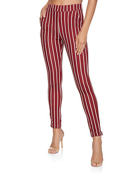 Striped Skinny Pants by Rainbow