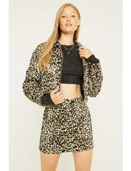 Urban Renewal Vintage Remnants Baby Leopard Faux Fur Jacket by Urban Renewal Vintage