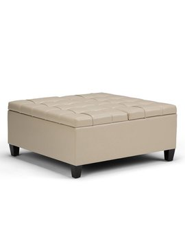 Simpli Home Harrison Storage Ottoman & Reviews by Simpli Home