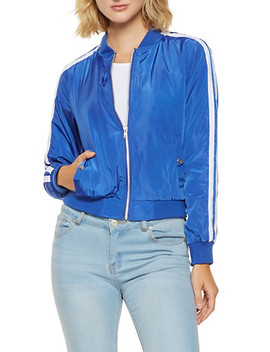 Varsity Stripe Bomber Jacket by Rainbow