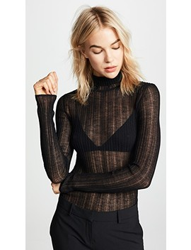 Sheer Turtleneck Sweater by Theory
