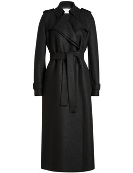 Virgin Wool Trench Coat by Harris Wharf London