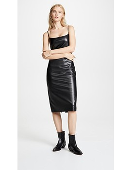 Skinny Faux Leather Slip by Theory
