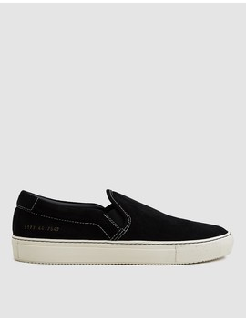 Slip On Sneaker In Black Suede by Common Projects