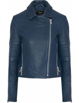 Aiah Textured Leather Biker Jacket by J Brand
