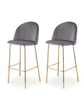 M61 Barstool, Gold Finish, Set Of Two by Generic