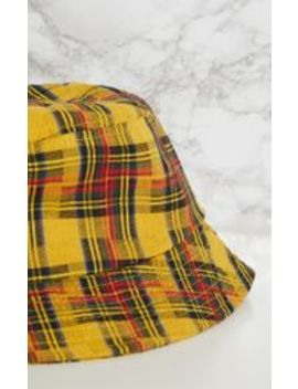 Yellow Check Bucket Hat by Prettylittlething