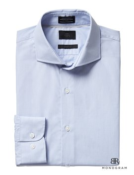 Monogram Grant Slim Fit Italian Cotton Dress Shirt by Banana Repbulic