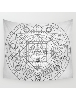 Hermetic Principles Wall Tapestry by