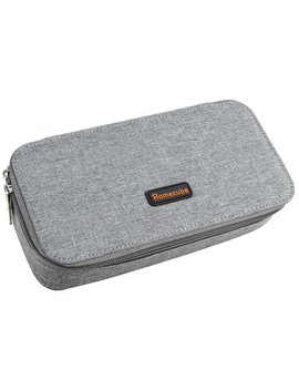 Homecube Pencil Case, Big Capacity Pen Case Desk Organizer With Zipper For School & Office Supplies   8.74x4.3x2.17 Inches, Gray by Homecube
