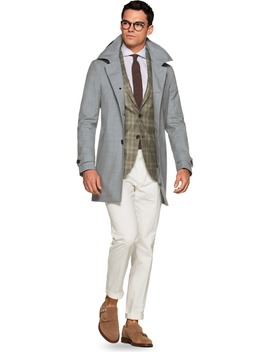 Light Grey Raincoat by Suitsupply