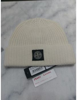 Stone Island Aw18/19 N10 B5 Beanie Wool Hat White Natural Rrp £90 by Ebay Seller