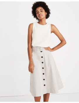 trench-circle-skirt by madewell