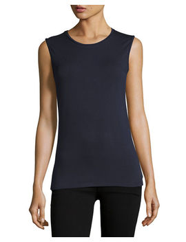 Soft Touch Sleeveless Crew by Majestic Paris For Neiman Marcus