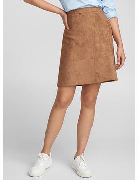 Faux Suede Skirt by Contemporaine