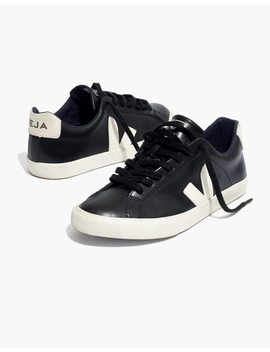Veja™ Esplar Low Sneakers In Black Leather by Madewell