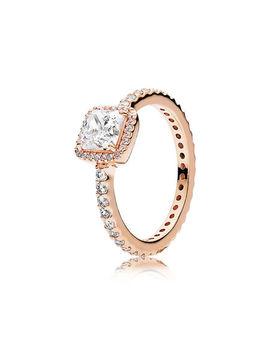 Timeless Elegance Ring, Pandora Rose™ & Clear Cz by Pandora
