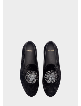 Medusa Samt Loafer by Versace