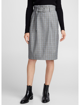 Prince Of Wales Paper Bag Skirt by Contemporaine
