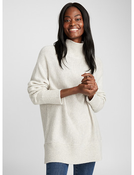Oversized Mock Neck Sweater by Contemporaine